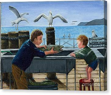 Canvas Print featuring the painting Like Father by Gail Finn