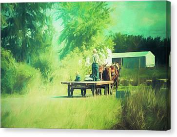 Canvas Print featuring the photograph Like Father, Like Son by Joel Witmeyer