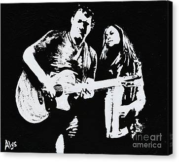 Like Johnny And June Canvas Print by Alys Caviness-Gober