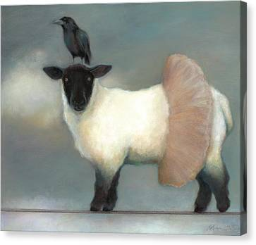 Lamb Canvas Print - ...like Lambs.. by Katherine DuBose Fuerst