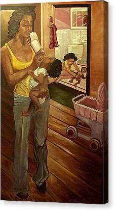 Like Mommy Canvas Print by Amira Najah Whitfield
