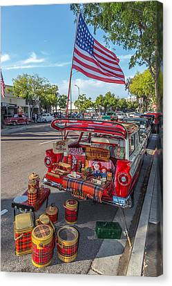 Fifties Automobile Canvas Print - Like The 4th Of July by Peter Tellone
