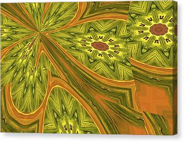 Different Stuff Canvas Print - Like Tumbling Flowers Abstract by Jeff Swan