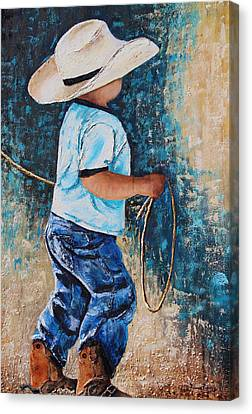 Li'l Rustler Canvas Print by Patricia Pasbrig