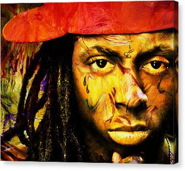Lil Wayne Canvas Print by Dan Sproul