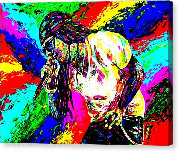 Lil Wayne Canvas Print by Mike OBrien