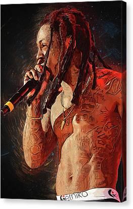 Lil Wayne Art Canvas Print - Lil Wayne by Semih Yurdabak