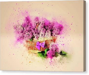 Lilac Basket Canvas Print