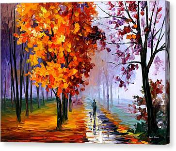 Lilac Fog Canvas Print by Leonid Afremov