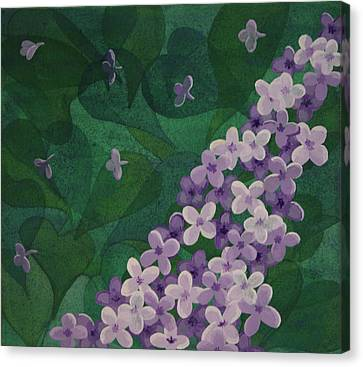 Canvas Print featuring the painting Lilac by Paul Amaranto