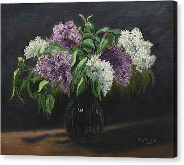 Lilacs Canvas Print by Alan Mager