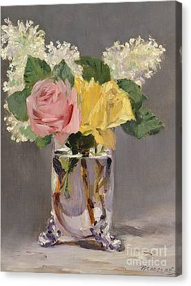 Rose Canvas Print - Lilacs And Roses by Edouard Manet