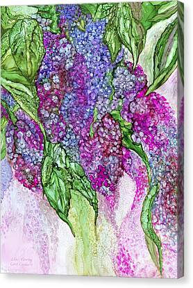 Lilacs Flowing Canvas Print