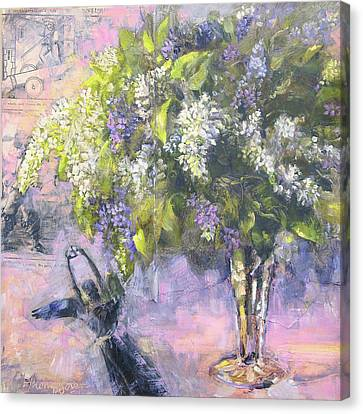 Lilacs Number One Canvas Print by Tracie Thompson