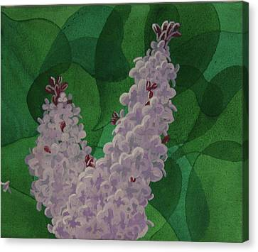 Canvas Print featuring the painting Lilacs by Paul Amaranto
