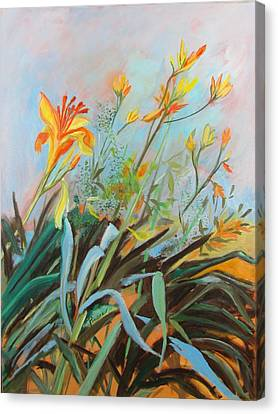 Lilies Of The Field Canvas Print by Betty Pieper