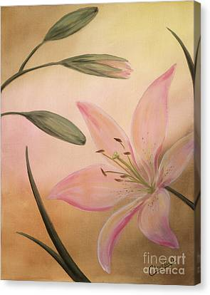 Lilies Part 2 Canvas Print by Cathy Cleveland