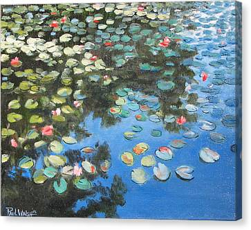 Lilies Canvas Print by Paul Walsh