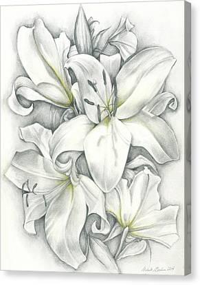Lilies Pencil Canvas Print