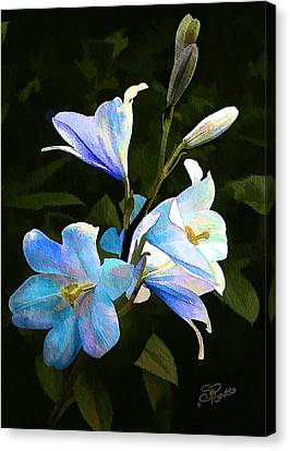 Lilies Canvas Print by Suni Roveto