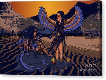 Lilith And Musical Medusa Canvas Print by Laura Brightwood