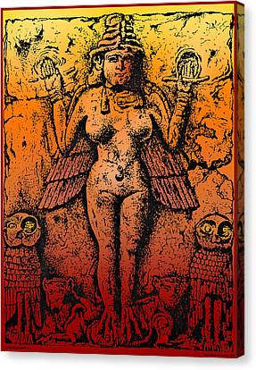Lilith Goddess Of Death Queen Of The Night Canvas Print by Larry Butterworth
