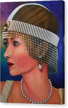 Art Deco Jewelry Canvas Print - Lillian by Michael Durst