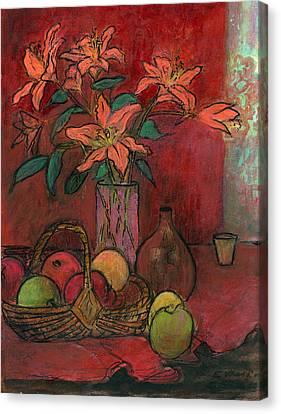 Lillies Canvas Print by Ethel Vrana