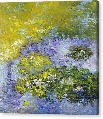 Lilly Pond Canvas Print by Terry  Chacon