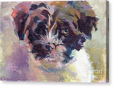 Lilly Pup Canvas Print