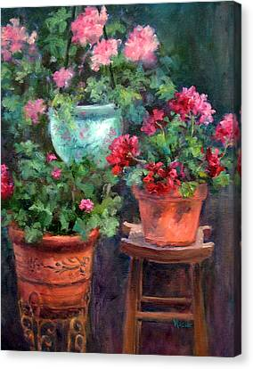 Lil's Geraniums Canvas Print