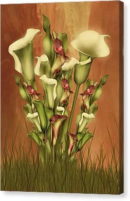 Lily Fantasy By Day Canvas Print by Georgiana Romanovna