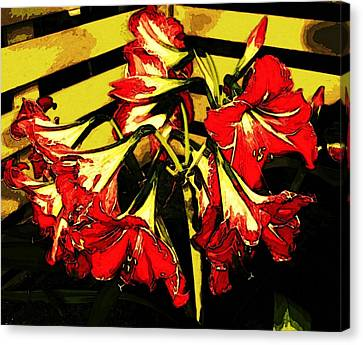 Canvas Print featuring the digital art Lily Gem by Winsome Gunning