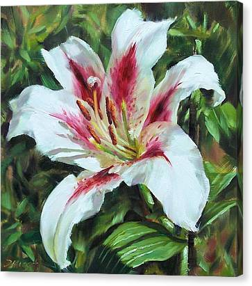 Lily Impression Canvas Print by Donna Munsch
