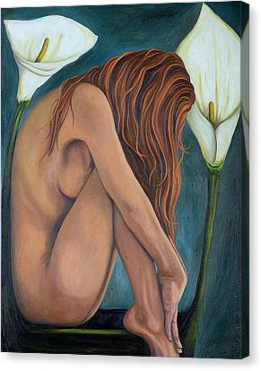 Calla Lily Canvas Print - Lily by Leah Saulnier The Painting Maniac