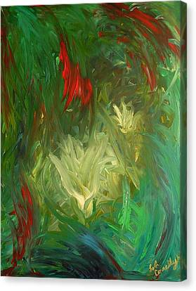 Canvas Print featuring the painting Lily by Lola Connelly