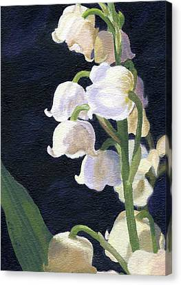 Canvas Print featuring the painting Lily Of The Valley by Lynne Reichhart