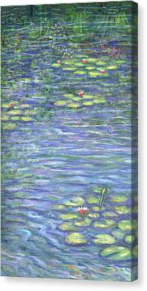 Lily Pads Triptych Part One Canvas Print by Linda Mears