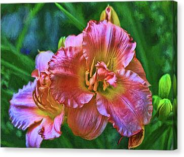 Canvas Print - Lily - Photopainting by Allen Beatty