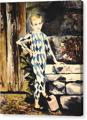Lily Pierrot Canvas Print by John Keaton