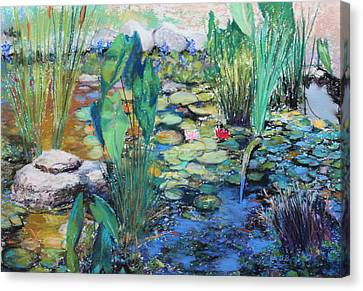 Lily Pond Canvas Print by M Diane Bonaparte