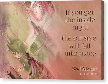 Canvas Print featuring the digital art Lily Text - Et01b by Variance Collections