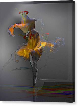 Canvas Print featuring the photograph Lily Variation 09 by Richard Wiggins