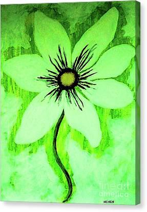 Monotone Canvas Print - Lime Daisy by Marsha Heiken