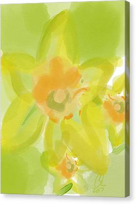 Indian Ink Canvas Print - Lime Flower Burst by Carl Griffasi