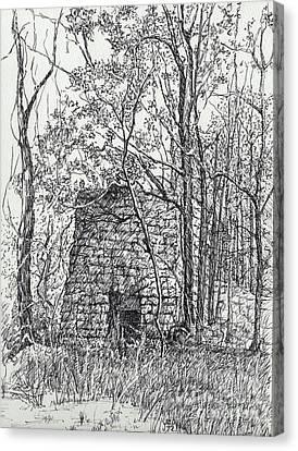 Lime Kiln, Erin, Tn Canvas Print by Janet Felts
