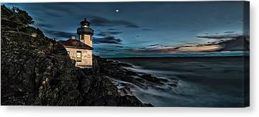 San Juan Islands Canvas Print - Lime Kiln Lighthouse Pano by Thomas Ashcraft
