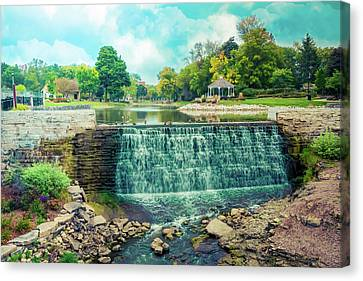 Canvas Print featuring the photograph Lime Kiln Park Waterfall by Joel Witmeyer