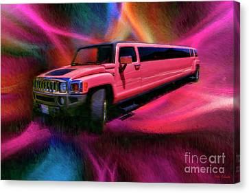Lime Lite Coach Works Limousine Canvas Print by Blake Richards