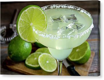 Canvas Print featuring the photograph Lime Margarita Drink by Teri Virbickis